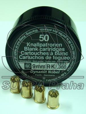 NÁBOJKA/WD 9mm/380 BLANK ČERNOPRACHÁ (50 ks)