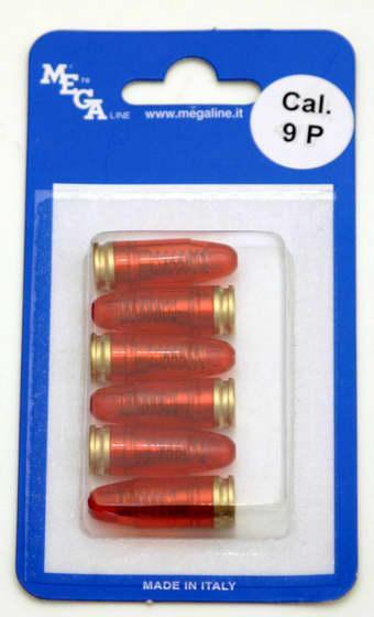 NÁBOJ MEGA-LINE 170/009P CVIČNÝ PLAST 9 LUGER