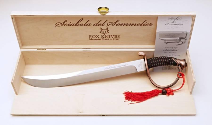 NŮŽ FOX 2006B SOMMELIER.ŠAVLE 53cm BRONZ NF15