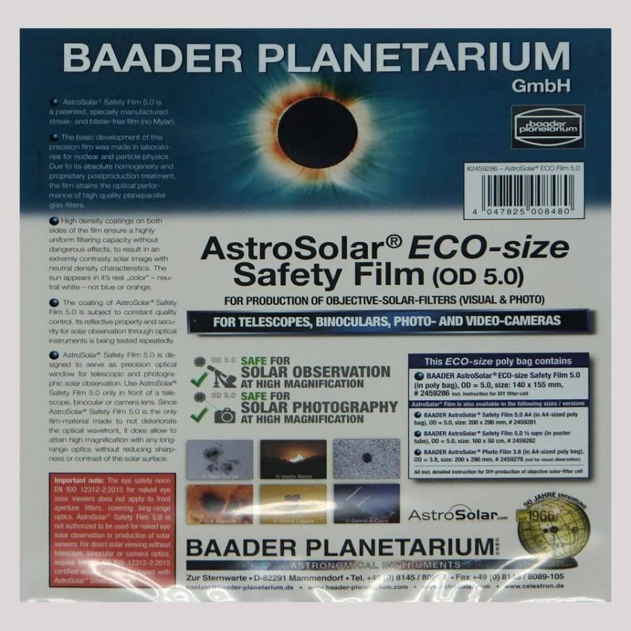 FILTR BAADER FOLIE 140x155mm ASTRO SOLAR ND 5.0 VIZUAL (SLUNEČNÍ)