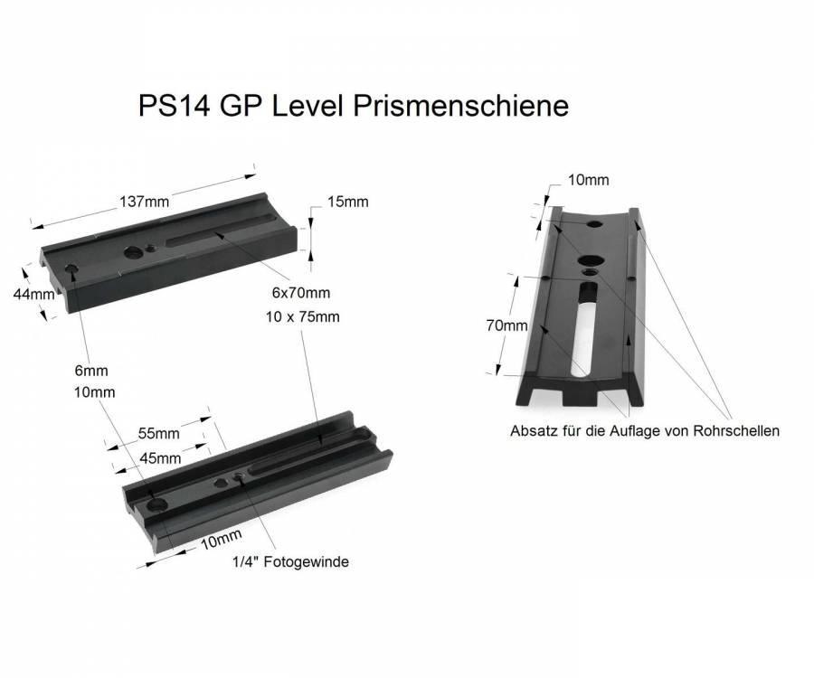 LIŠTA T-S PS14 VIXEN T-S pro fotošroub (135mm)