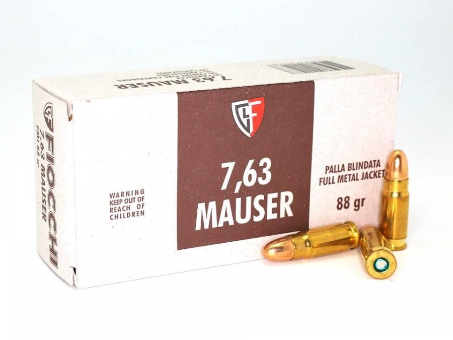 NÁBOJ FIOCCHI 7,63 MAUSER FMJ 5.70g/88grs.