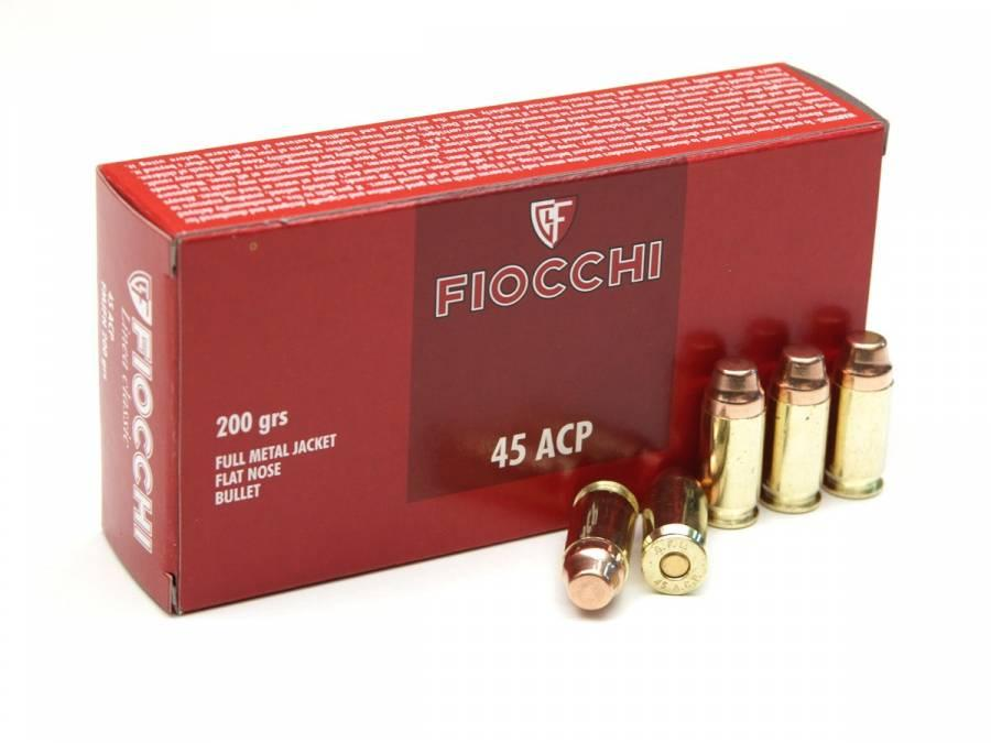 NÁBOJ FIOCCHI 45 ACP FMJ FN 12.96g/200grs.