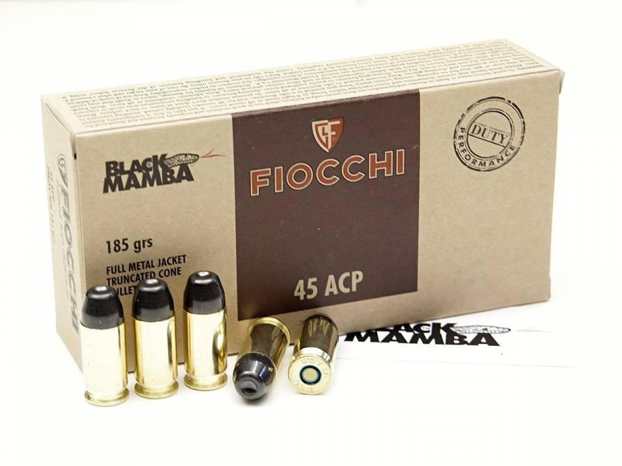 NÁBOJ FIOCCHI 45 ACP FMJTC BM 12g/185grs. BLACK MAMBA