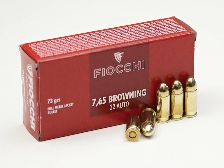 NÁBOJ FIOCCHI 7.65 BROW FMJ 4.73g/73grs.