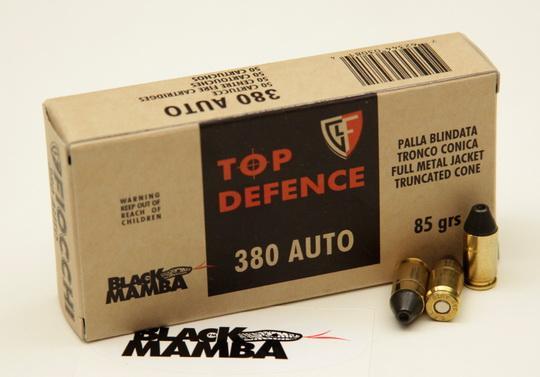 NÁBOJ FIOCCHI 9 BROW FMJTC BM 5.80g/85 grs. BLACK MAMBA