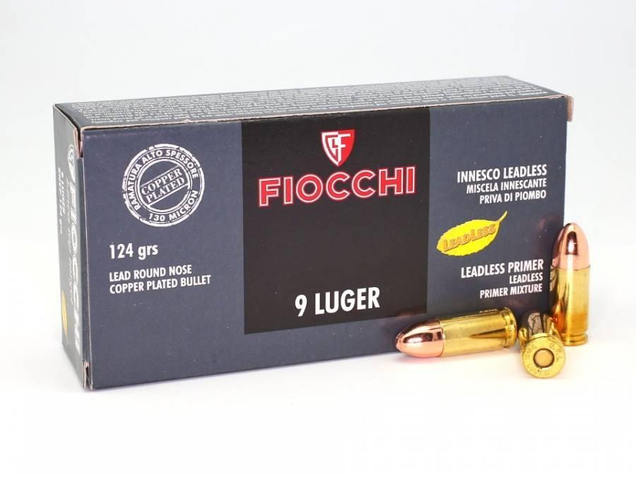 NÁBOJ FIOCCHI 9 LUGER RNCP LL 7.97g/124grs. TOP TARGET