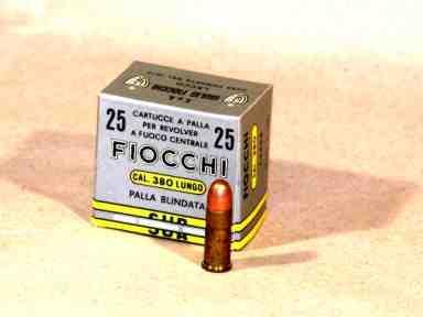 NÁBOJ FIOCCHI 380 LUNGO FMJ 8.10g/125 grs.