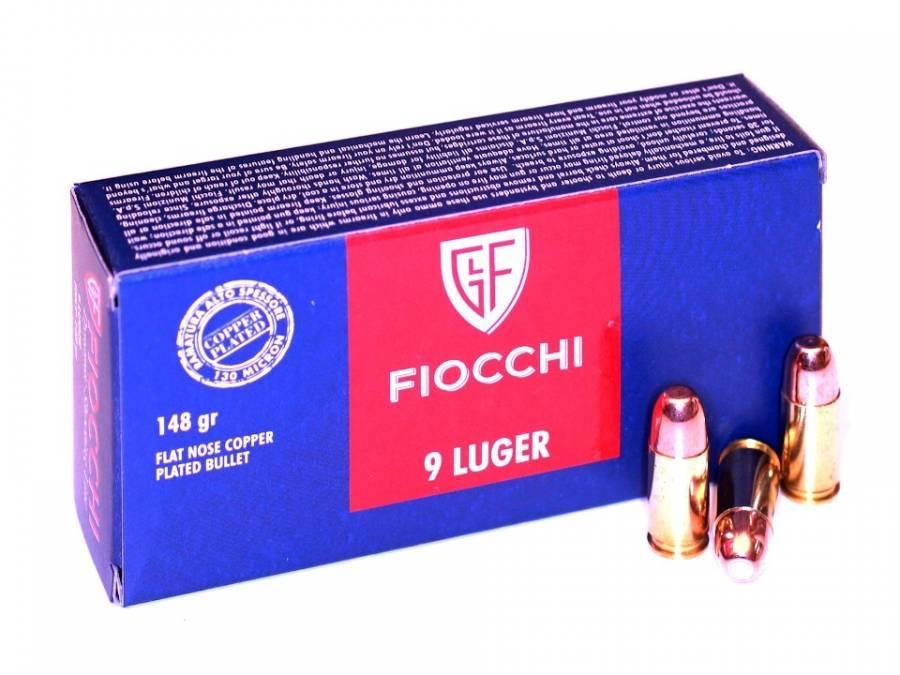 NÁBOJ FIOCCHI 9 LUGER FNCP RAM 148 grs.