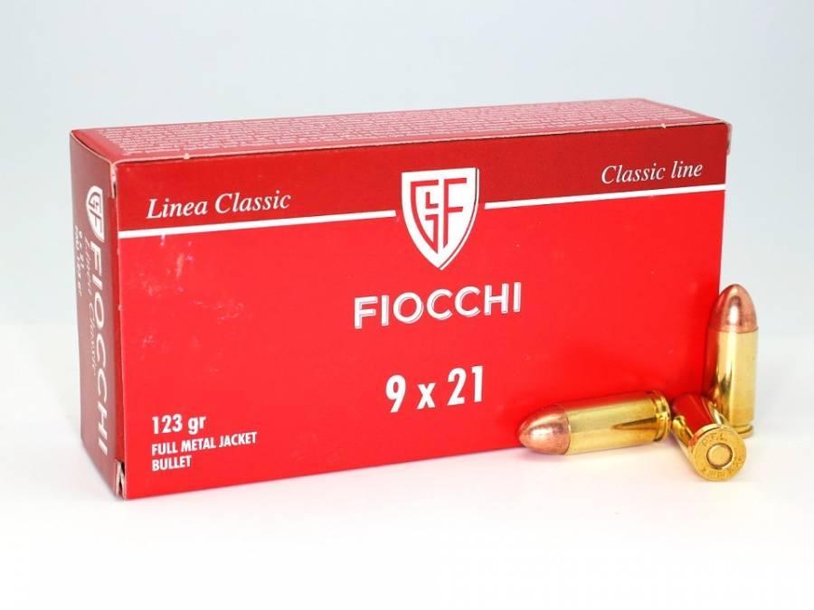 NÁBOJ FIOCCHI 9x21 FMJ  123 grs. RAM