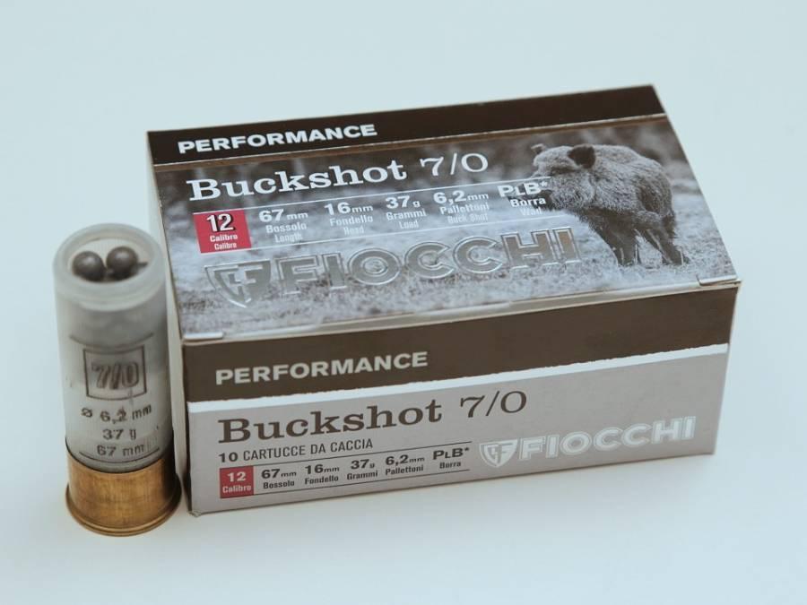 NÁBOJ FIOCCHI 12/70/16 HV 6.80mm 7/0  4-BUCK 38g