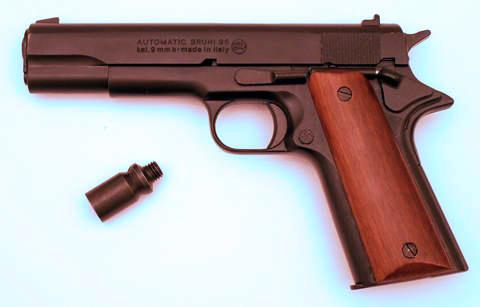 PLYNOVKA BRUNI Mod. 96 COLT ČERNÝ 9mm PA