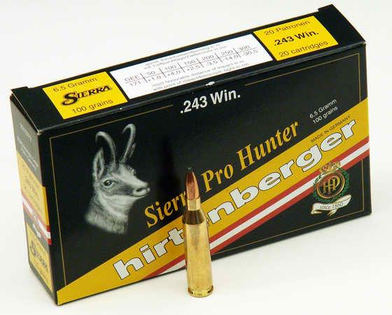 NÁBOJ HIRTENBERGER 243 WIN SP Sierra Pro-Hunter 6.5g