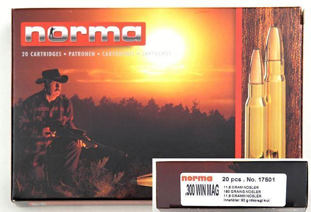 NÁBOJ/NORMA HP 300 Win Mag SP Nosler PT 11.6g