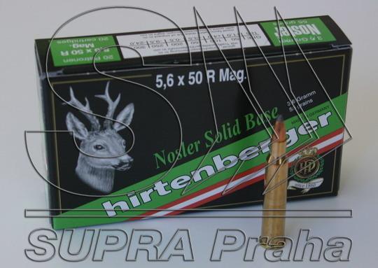 NÁBOJ HIRTENBERGER 5.6x50R Mag Nosler Solid Base 3.6g - PRODEJ UKONČEN
