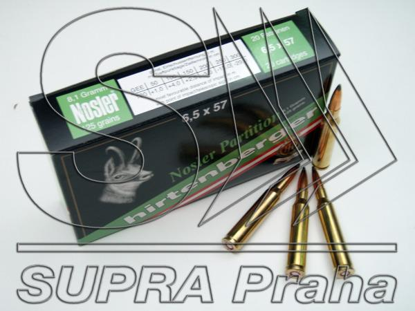 NÁBOJ/NORMA HP 6.5x57 SP Nosler Partition 8.1g