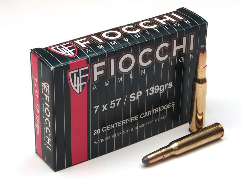 NÁBOJ FIOCCHI 7x57 SP 139 grs./9g.
