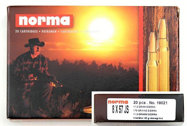 NÁBOJ/NORMA HP 8x57 JS Sierra Pro-Hunter 11.3g