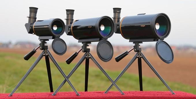 Řada pozorovacích zrcadlových dalekohledů Omegon Mighty 60, 80 a 90