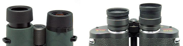 Systém výsuvných očnic u binokulárů.