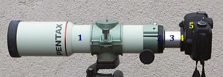 Připojení zrcadlovky do primárního ohniska dalekohledu